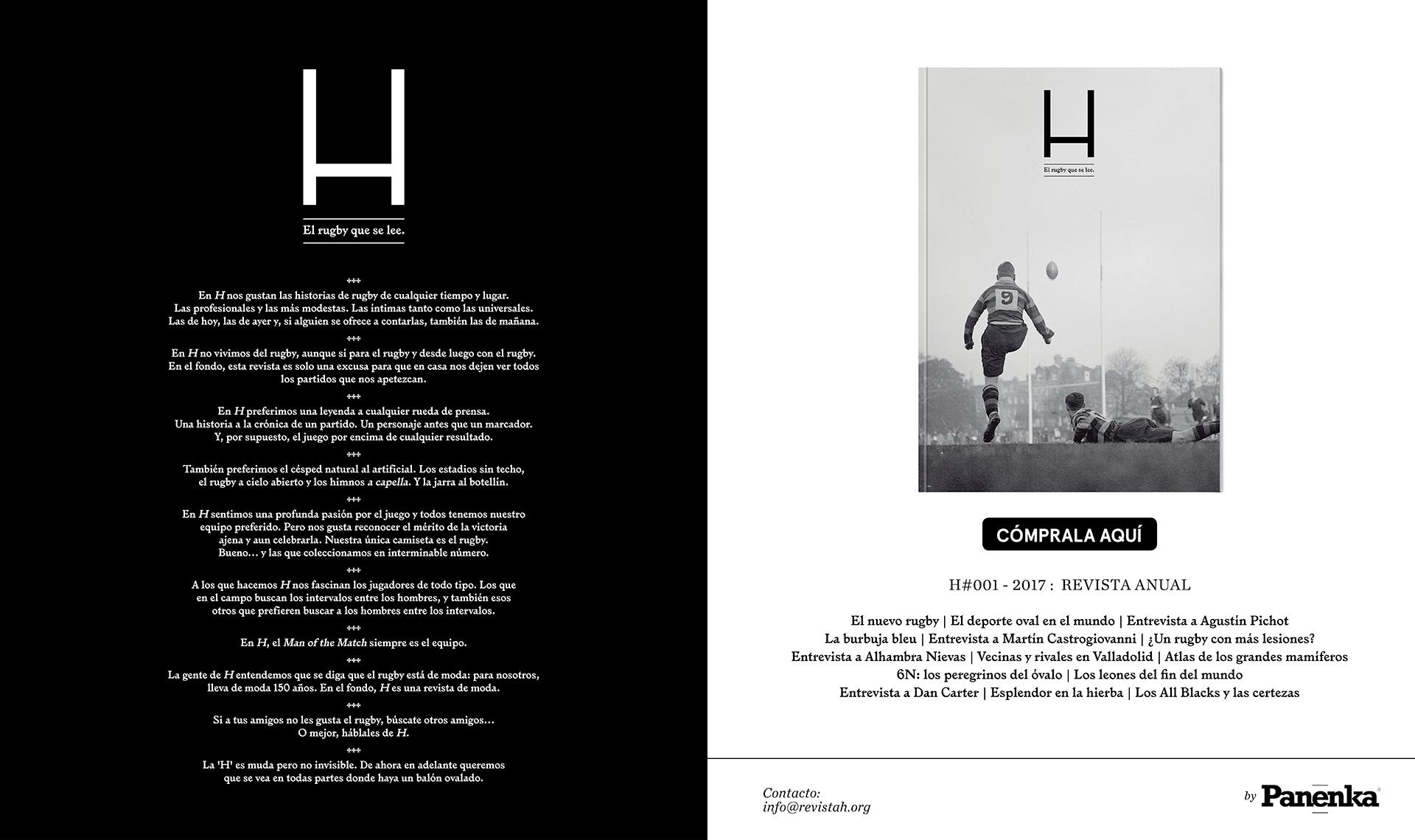 Revista H - El rugby que se lee